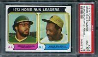 1974 Topps #202 HR Ldrs R.Jackson/W.Stargell PSA 8 NM-MT