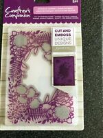 CUT AND EMBOSS 5 X 7 EMBOSSING FOLDER BOTANICAL GARDEN CRAFTERS COMPANION NEW