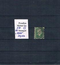 """Preußen, Mi. 5 b mit dem seltenen NS """"1393"""" von Seyda, s. Scan"""