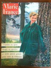 Marie France 358 Octobre1951  Réagir en sportive