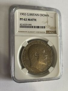 1902 Great Britain Crown Edward VII Matte Proof NGC PF-62 Rare