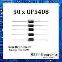 Vishay UF5408 Ultrafast Plastic Rectifier 1000V 3A 1.7V 150A 150 °C - Pack of 50