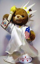 Rare Vintage 1985 Marjorie Sarnat Presents World Peace Bears Plush Toy Libearty