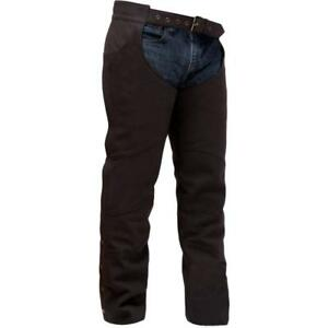 NEW First Manufacturing Co. FMC XL Java Brown Unisex Stallion Leather Chaps
