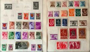 Lot of Belgium Semi-postal Stamps MH