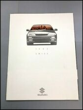 1992 Suzuki Swift and GT 20-page Original Car Sales Brochure Catalog