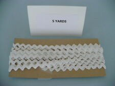 5 YARDS  VINTAGE WHITE ALL COTTON RICK RACK