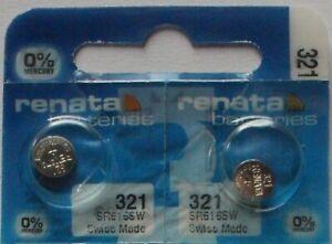 2 x Renata 321 Uhrenbatterien 1,55 V SR616SW SR6 1,55V  Knopfzelle