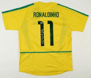 *NEW* Ronaldinho Signed Brazil Brasil Jersey Shirt Inscribed R10 Beckett COA