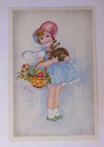 Ostern, Kinder, Mode, Korb, Ostereier, Hase,    1930  ♥ (62998)