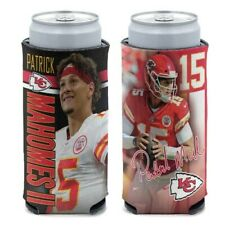 PATRICK MAHOMES KANSAS CITY CHIEFS SELTZER SLIM CAN COOZIE KOOZIE COOLER HOLDER