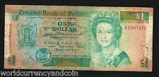 BELIZE $1 P51 1990 REPLACEMENT BIRD ELEPHANT QUEEN LOBSTER AZ PFX RARE NOTE NOTE