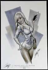 Trish Out Of Water Aspen Comikaze Exclusive Art Print Signed J Scott Campbell