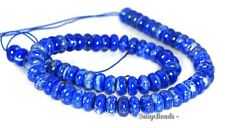 10X5MM AZURA LAPIS LAZULI GEMSTONE AA BLUE RONDELLE 10X5MM LOOSE BEADS 16""