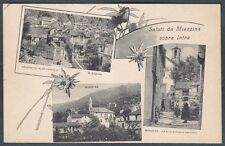VERBANIA MIAZZINA 17 SALUTI da... VEDUTINE Cartolina viaggiata 1919