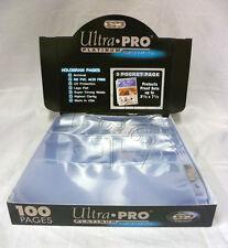 """100 ULTRA PRO 9 páginas de bolsillo PLATINUM Mini Card cupón de comercio 3-1//8/"""" X 2-1//4/"""""""