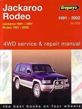 GREGORYS REPAIR MANUAL HOLDEN JACKAROO RODEO 1991-2002