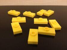 LEGO NEW Bulk Lot - 10 Yellow Plate Flat 1x2 Single Stud Jumper