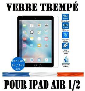 Vitre Protection Film écran en VERRE TREMPE Pour Apple iPad 5/6 iPad Air 1/2