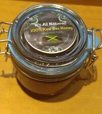 100% Raw Bee Honey Imported from Jamaica 7.4 oz. Jar w/ Free Honey Stick