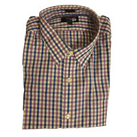 EX Thomas Mason For J. Crew Purple & Blue Check Mens Casual Shirt RRP £60
