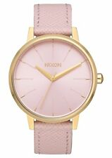 Nixon A108-2813 Kensington Leather Women's Watch Pale Pink 37mm Stainless Steel