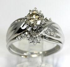 white gold 1.25C ctr rd brill 12.5 1.55Ct Diamond engagement ring insert set 14K