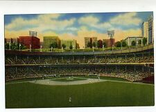 LINEN THE POLO GROUNDS NEW YORK GIANTS STADIUM VINTAGE BASEBALL POSTCARD