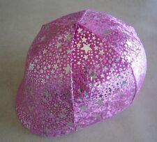 Horse Helmet Cover Pink & Silver stars AUSTRALIAN MADE Choose your helmet cover