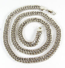 White gold filled chain link Necklace