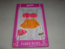 NEW BARBIE FASHION AVENUE SET 14980 MATTEL PINK FLOWER DRESS WHITE LACE TIGHTS >