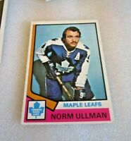 1974-75 O-Pee-Chee Hockey #236 Hall of Fame Norm Ullman Toronto Maple Leafs! N/M