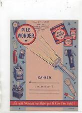 Protège-Cahier PILE WONDER. En éclairage portatif.  Etat neuf (réf. 64/43)