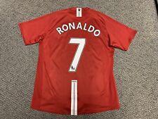 2008 2009 Manchester United Cristiano Ronaldo Jersey Shirt Red Nike 7 XL EPL Kit