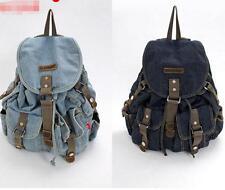 women Travel denim Vintage shoulder handbag Backpack Rucksack messenger Bag