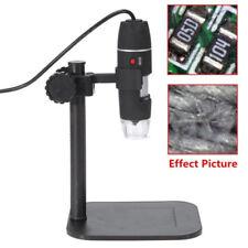 5MP USB 1000X 8 LED Digital Microscope Endoscope Magnifier Camera+Lift Stand
