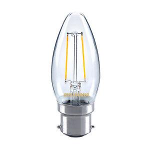 Sylvania 2.5W LED traditional candle light bulb B22 BC warm white 2700K