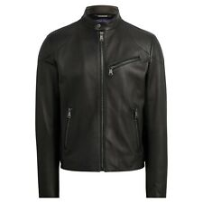 Ralph Lauren Purple Label $3495 Randall Lambskin Leather Biker Cafe Racer Jacket