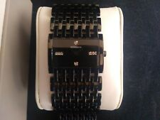 Rodania Swiss Woman's Quartz Watch with Black Dial and Black Bracelet