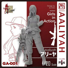 ZLPLA Genuine 1/20 Girls in Action Aaliyah Resin Figure Assembly Model GA-001