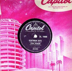 COMEDY ELVIS SPOOF STAN FREBERG 78 HEARTBREAK HOTEL / ROCK ISLAND LINE UK CAP E-