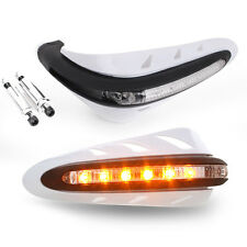 2pcs Motorcycles Handguards Handlebar Hand Brush Guards w/ LED Indicators Lights