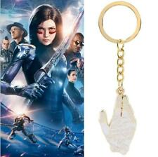 Alita Battle Angel Golden Hand KeyChain Metal Pendant Keyrings Gift