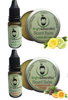 2x Beard Balm 30ml and 2x Beard Oil 15ml Conditioning, Styling, Growth, Soften