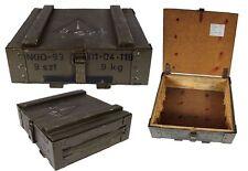 Polonais Boîte de munitions Caisse en bois couleur olive usé Coffre