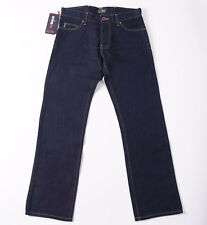 NWT $225 ARMANI JEANS 'J25' Regular-Fit Straight Leg Jeans 34 x 32 Dark Blue