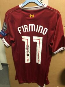 Signed Roberto Firmino Liverpool FC shirt with Coa