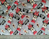 Jersey Cotton - Disney Minnie Mouse - Knit Fabric Material, Springs Creative