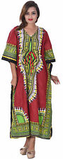 Indian Kaftan  Hippie Boho Kimono Sleeve Women Cocktail Dress Plus Size Green