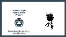Lego Star Wars Imperial Probe Droid Probot (Instructions Only, No Pieces)